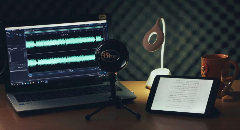 میز ضبط پادکست فوربو